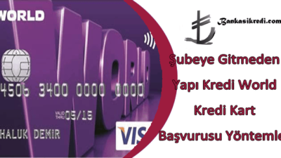 Şubeye Gitmeden Yapı Kredi World Kredi Kart Başvurusu