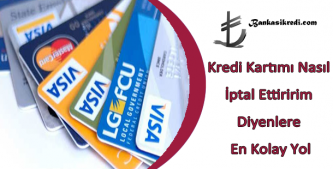 kredi kartı iptali