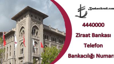 4440000 Ziraat Bankası Telefon Bankacılığı Numarası