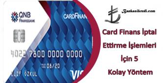 card finans kapattırma