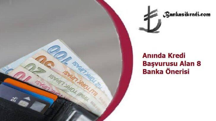 Anında Kredi Başvurusu Alan 8 Banka Önerisi